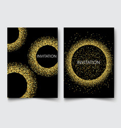 template design invitationsgreeting cards vector image