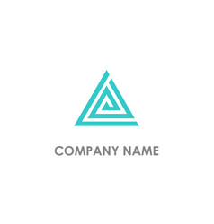 triangle line delta business logo vector image