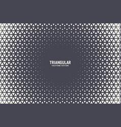 triangular halftone texture geometric technology vector image
