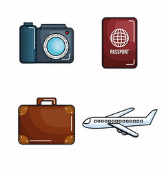 vacation related objects vector image