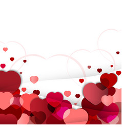 Valentines day background with hearts of vector