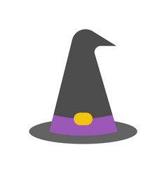Witch or wizard hat halloween related icon vector