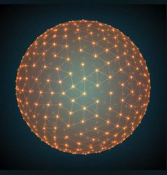 abstract mesh sphere constructed vector image