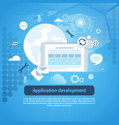 application development web coding banner with vector image