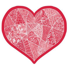 Heart design element background for cute cards on vector image vector image