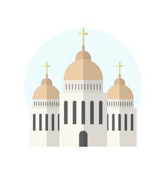 church icon isolated on white background vector image