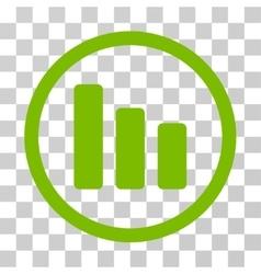 Bar chart decrease rounded icon vector