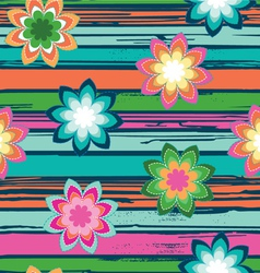 colorful flowers - seamless background vector image vector image