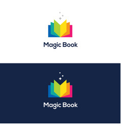 colorful open book logo vector image