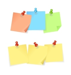 Colorful Paper and Pin Set vector image