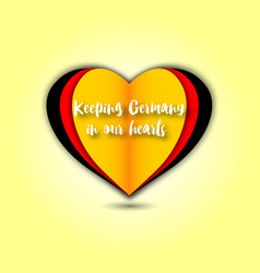 Keeping germany in our hearts emblem vector