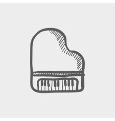 Piano sketch icon vector image vector image