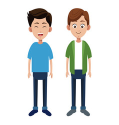 two boy different family vector image