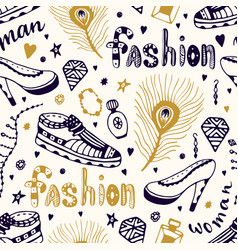 fashionable seamless pattern with man and woman vector image vector image