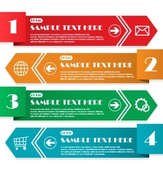 Infographic four lines vector image vector image