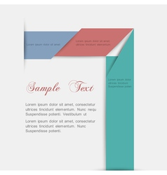 Minimalist style paper background for design vector image