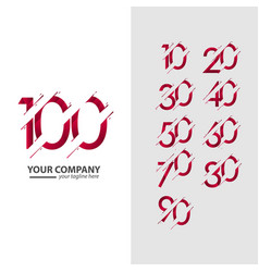 100 year anniversary your company set template vector