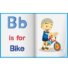 A picture of a bike in a book vector