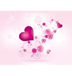 abstract floral background for valentines day vector image