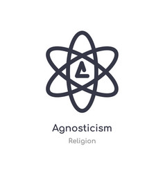 Agnosticism icon isolated icon from vector
