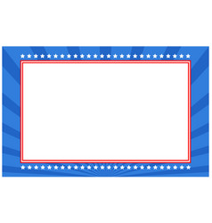 American decorative abstract flag symbols frame vector