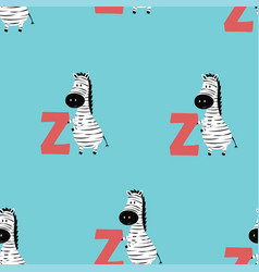 animal alphabet pattern with zebra vector image