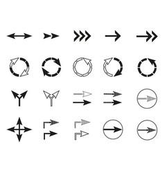 arrows icons sign circle arrow flat design vector image