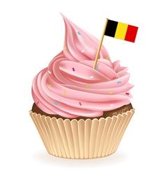 Belgian Cupcake vector image