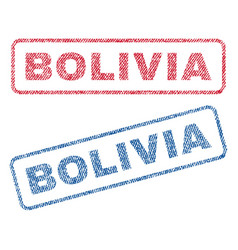 bolivia textile stamps vector image