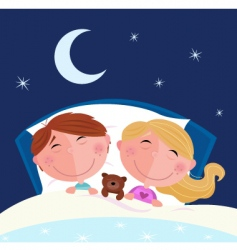 boy and girl sleeping vector image