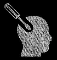 Brain tool fabric textured icon vector