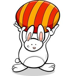 Bunny with easter egg cartoon vector