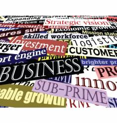 Business headlines vector
