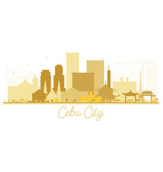 Cebu city skyline golden silhouette vector