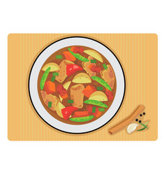 Chicken stew vector