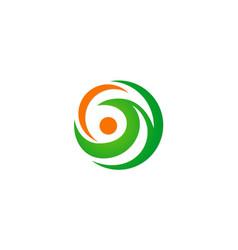 circle abstract ecology logo vector image