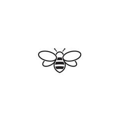 Creative bee abstract logo design vector