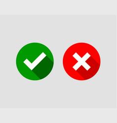 cross and check mark icon symbol set vector image