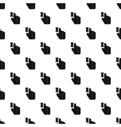 Cursor hand in anticipation pattern simple style vector image