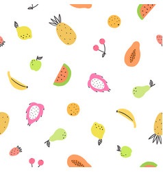 cute bright fruits vector image
