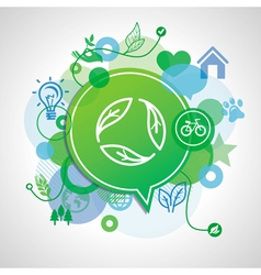 ecology concept - design elements and signs vector image
