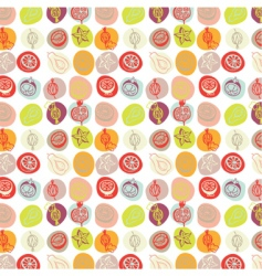 Exotic fruits pattern vector