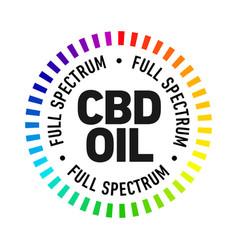 Full spectrum cbd oil badge icon vector