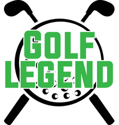 Golf legend on white background vector