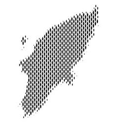 greek rhodes island map population people vector image