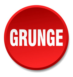 Grunge red round flat isolated push button vector