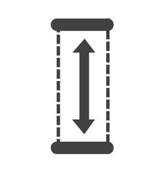 Height icon design vector