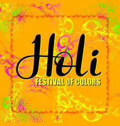 holi festival of colors abstract banner vector image