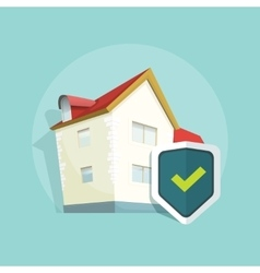 Home insurance real estate property vector image
