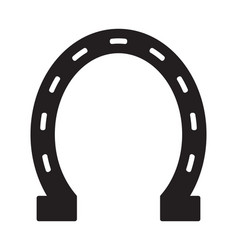 horse shoe icon vector image